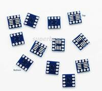12pc SOP8 SO8 SOIC8 TSSOP8 to DIP8 Breakout Adapter PCB Converter Board Module