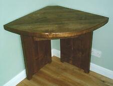 Handmade Solid Wood Rustic Corner Table - Curved Edge