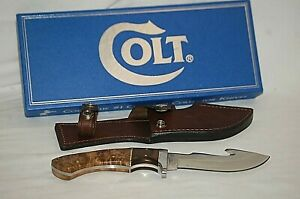 Colt Skinner CT7-BP Hunting Fixed Blade Gut Hook Knife w Sheath & Box