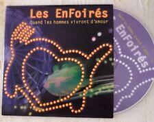 CD *LES ENFOIRES*QUAND LES HOMMES VIVRONT D'AMOUR*PROMO 2003 LA FOIRE