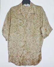 NEW Anne Klein II 100% Silk Wmn Top Shirt NWOT sz 10 Short Sleeve Button Front