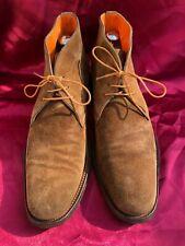 Premium Santoni Boots Stiefel Braun 8,5 42,5 NP 480€ Wildleder Suede