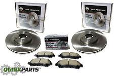 2009-2013 Nissan Maxima Front Left & Right Disc Rotors w/ Front Brake Pad VA Kit