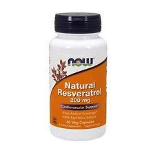 Natural RESVERATROL, MEGA POTENCY, 200mg x 60VCaps, Now Foods, Cardiovascular