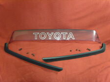 TOYOTA MR2 MK1 OEM C PILLAR TRIMS AND CLEAR ROOF AEROFOIL / SPOILER  AW11