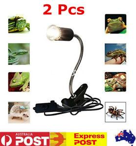 2Pcs Ceramic Heat E27 Lamp Holder Clamp For Reptile Chicken Brooder AU