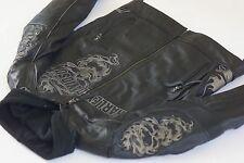 Harley Davidson Mens Elemental 360° Leather Jacket L Reflective Skull 97064-11VM