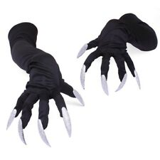 Halloween Gloves Long Finger Nails Creepy Fancy Dress Cosplay Party Costume Prop
