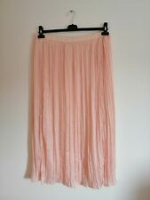 Womens pretty dusky pink Summer skirt with elasticated waist size 18 NEW