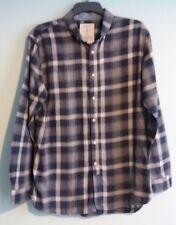 Men's Jasper Conran Blue Check Long Sleeved Shirt Size L