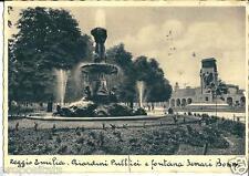 em 182 1935 REGGIO EMILIA Giardini pubblici e Fontana Ferrari Bonin viagg