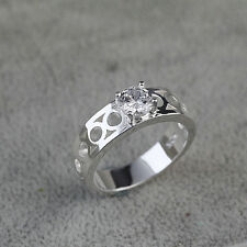 925 Solid Sterling Silver Plated Women/Men NEW Fashion Ring Gift SIZE 8 HR462