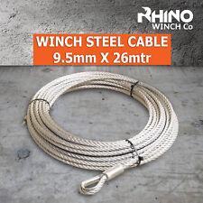 Cabrestante cable Cuerda-Acero - 9,5 mm X 26mtr/85ft-Heavy Duty-Galvanizado Cable