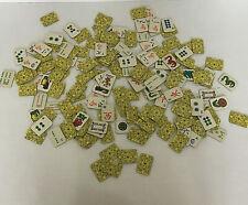 game pieces cardboard mahjong tile pieces lot scrapbooking craft supplies