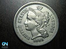 1881 3 Cent Nickel Piece    BETTER GRADE!  NICE TYPE COIN!  #B6759