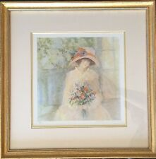 "Barbara A. Wood Limited Edition Print 426/975 ""Naome"" Hand Signed. Girl Flowers"