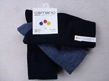 CAMANO Kinder Söckchen 3er Sparpack UNI 80% Baumwolle Gr. 19-42 Socken
