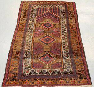 Old Handmade Oriental Parsian Beluch Wool Rug 140cm x 87cm