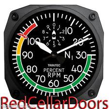 "TRINTEC New Design 2060 SERIES 6.5"" Wall Clock PERCENT RPM Aviation Instrument"