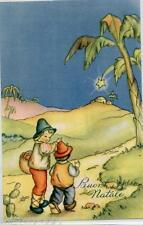 Bambini Pastorelli Presepe Natale Xmas Childrens PC Circa 1940