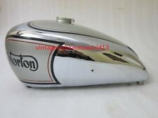 NEW NORTON 16H SILVER PAINTED CHROME GAS FUEL TANK