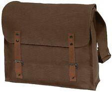 BROWN Vintage Military Canvas Shoulder Medic,Courier,Book Bag Messenger Bag 8147