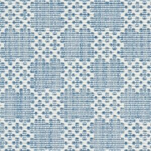 Schumacher Albert Fret Blue Designer Fabric Remnant