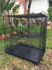 3-Levels Black Chinchilla Guinea Pig Degu Animals Rats Mice Gerbil Ferret Cage