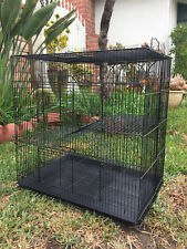 3-Level Black Chinchilla Guinea Pig Degu Animal Rat Mice Gerbil Ferret Cage 543