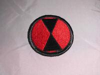 VTG WWII WW2 World War 2 Era 7th U.S. Army Insignia Shoulder Patch