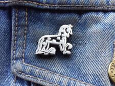 Celtic Horse Pewter Pin Badge
