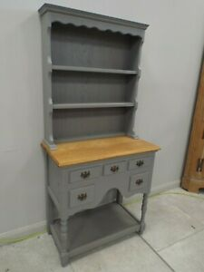 Diminutive Cottage Style Solid Elm Shabby Chic Painted Sideboard Dresser