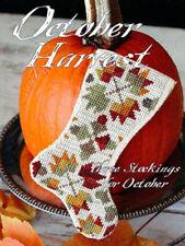 October Harvest Set of 3 Stocking Ornament Blackbird Designs Pattern