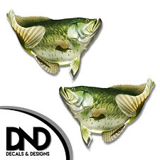 """Crappie - Fish Decal Fishing Tackle Box Bumper Sticker """"5in SET"""" F-0100 D&"""