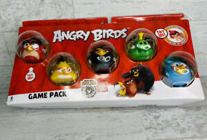 Angry Birds 5 Pc Game Pack - Red Bomb Chuck King Blue Bird Push Button