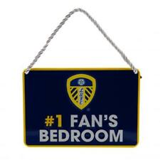 Official Licensed Football Product Leeds United Bedroom Sign No1 Fan Crest