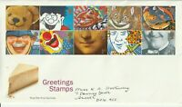26 MARCH 1991 GREETINGS ROYAL MAIL FIRST DAY COVER DONCASTER FDI