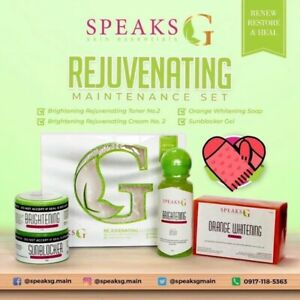 Speaks G MAINTENANCE Set Skin - Brightening, Anti-Aging & Anti-Acne