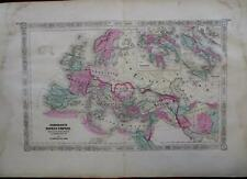 Roman Empire Mediterranean Basin Greece Italy North Africa 1866 Johnston map
