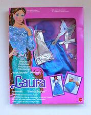 Vintage Mattel Barbie Jewel Secrets Fashions 1862 LAURA Blue Dress MIB 1986