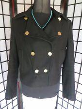 ZARA Women's Jacket - 75% Wool  - Size Eu M - UK 8 - 10 - Military DB Gold Butts