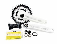 Aerozine X12 Mountain Bike Cycling Crankset 9 10 Speed 36/22t 170mm 175mm White