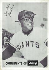 Extremely Rare 1967 Willie Mays San Francisco Giants 5x7 Raley's Grocery Premium