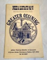 Vintage Map of Greater Ossining NY 1975 Illustrated by Karen Pellaton