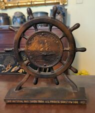 1927 US Frigate Constitution Souvenir Bookend Old Ironsides