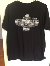 Boxer Engine Shirt T-Shirt Shortsleeve Graphic Tee Missing Tag Black BMW
