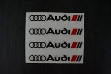 4 Pegatinas sticker decal brake caliper Audi Sline pinzas freno 11,5 cm x 1,2 cm