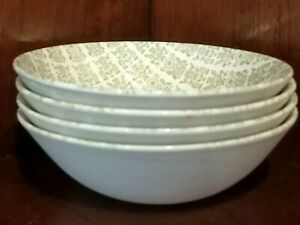Kelston Potteries Albany breakfast bowls set of 4 Made in New Zealand