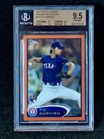 2012 Topps Chrome #151 Yu Darvish Orange Refractor Rookie BGS 9.5 Gem Mint