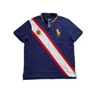 Polo Ralph Lauren Big Pony Crest Classic Fit Mesh Polo Shirt Navy NWT Men's XL